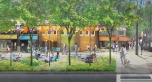 Commercial Row Commons Rendering