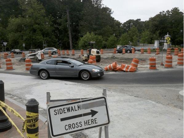 sidewalk closed ~ what now, atlanta?