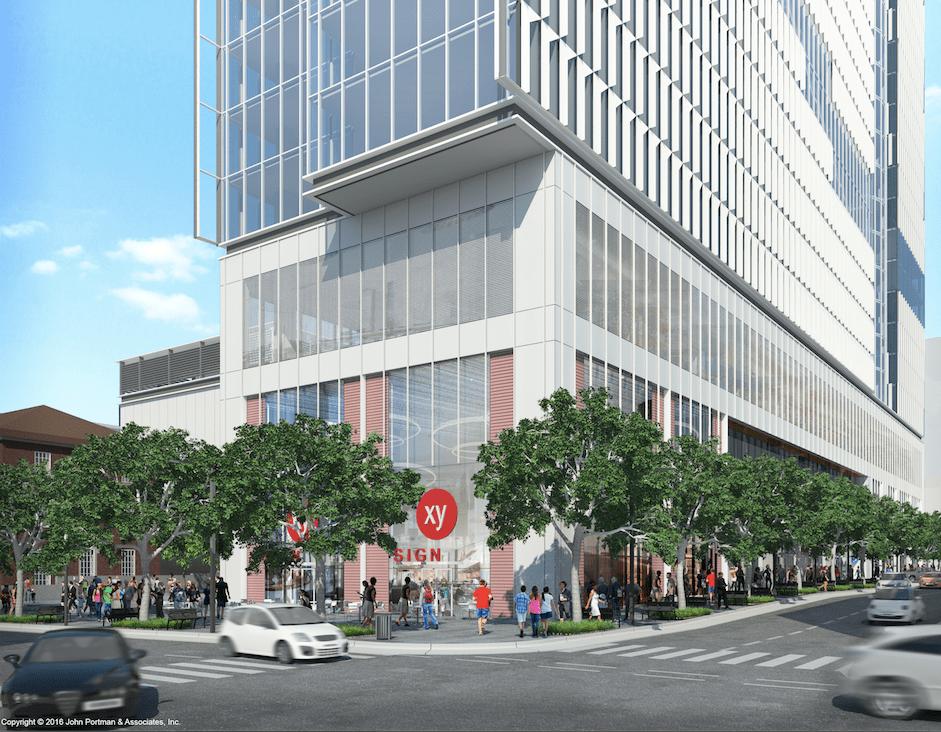 Retail Southwest Corner (c) John Portman & Associates