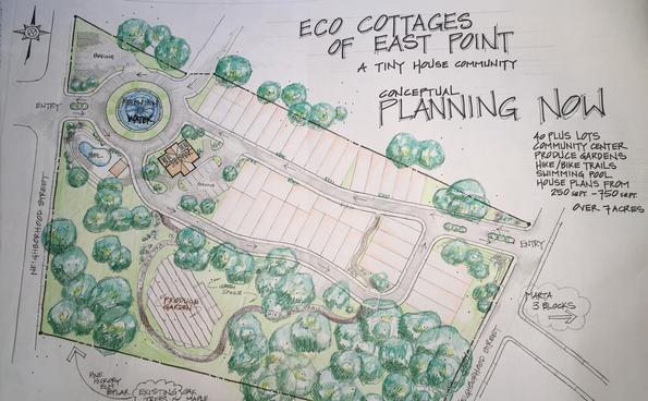 Eco Cottages of East Point Site Plan