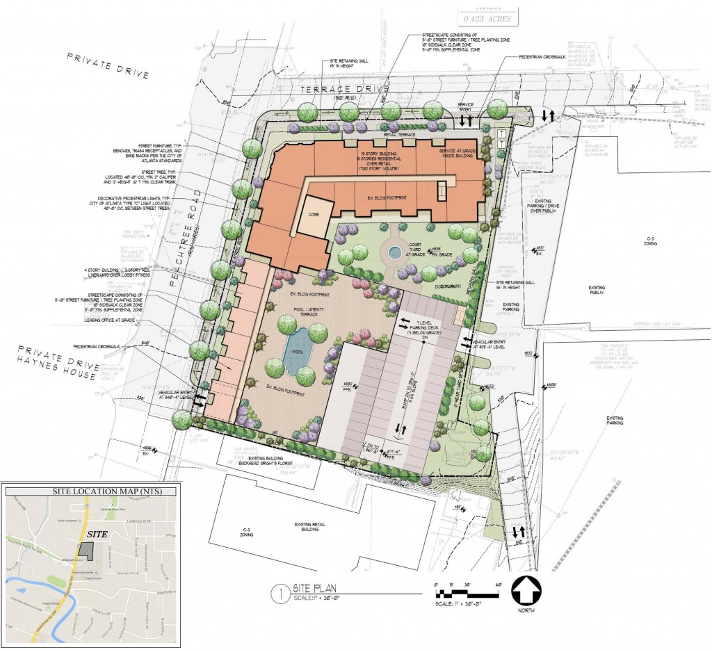 Peachtree Hills High Rise - Branch Properties - Site Plan