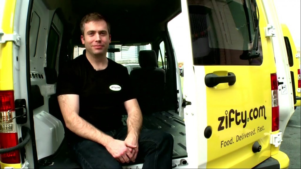 Todd Miller poses for a photo in between deliveries. Photo: Zifty