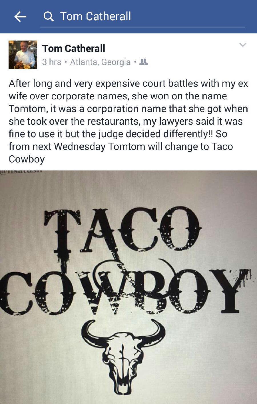 TomTom Now Taco Cowboy | Atlanta