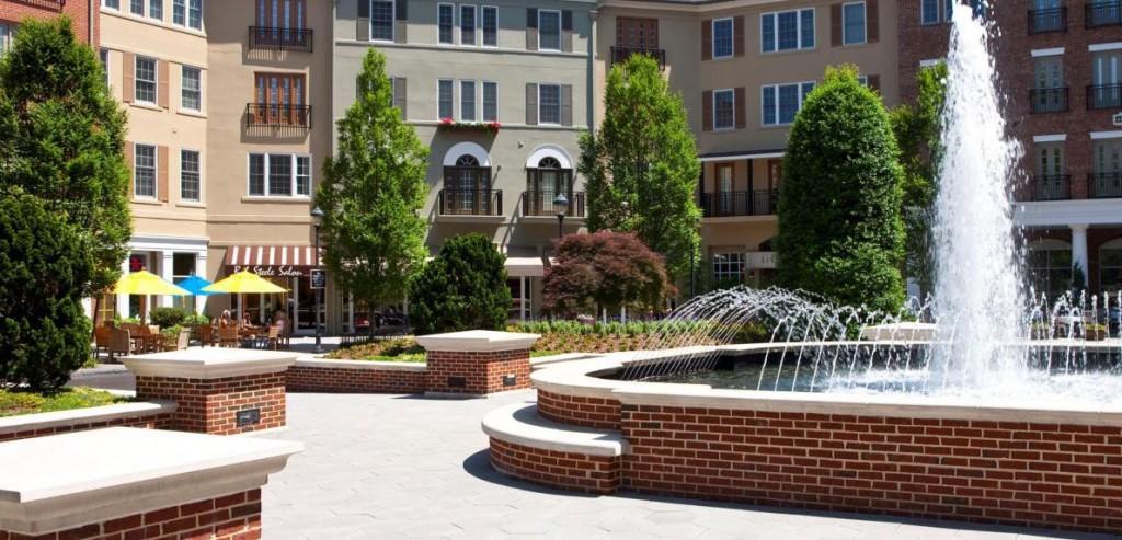 "Post Riverside has an Italian-like ""town square,"" Lange says."