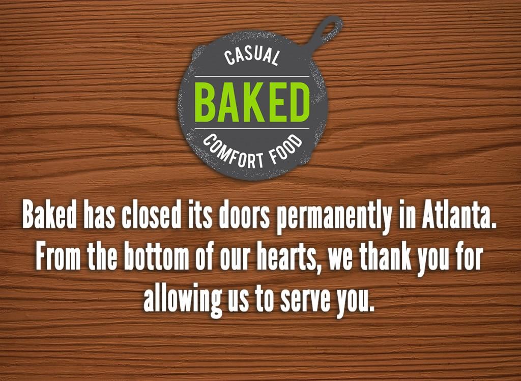 Baked Now Closed in Old Fourth Ward