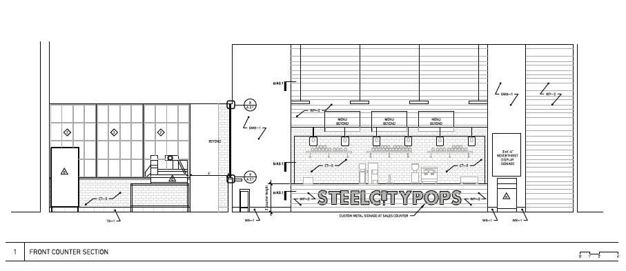 Steel City Pops - Front Counter Section