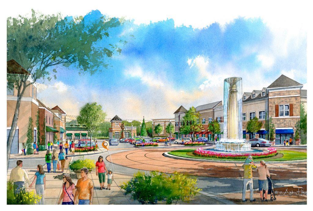 Peachtree Corners Town Center Rendering 1