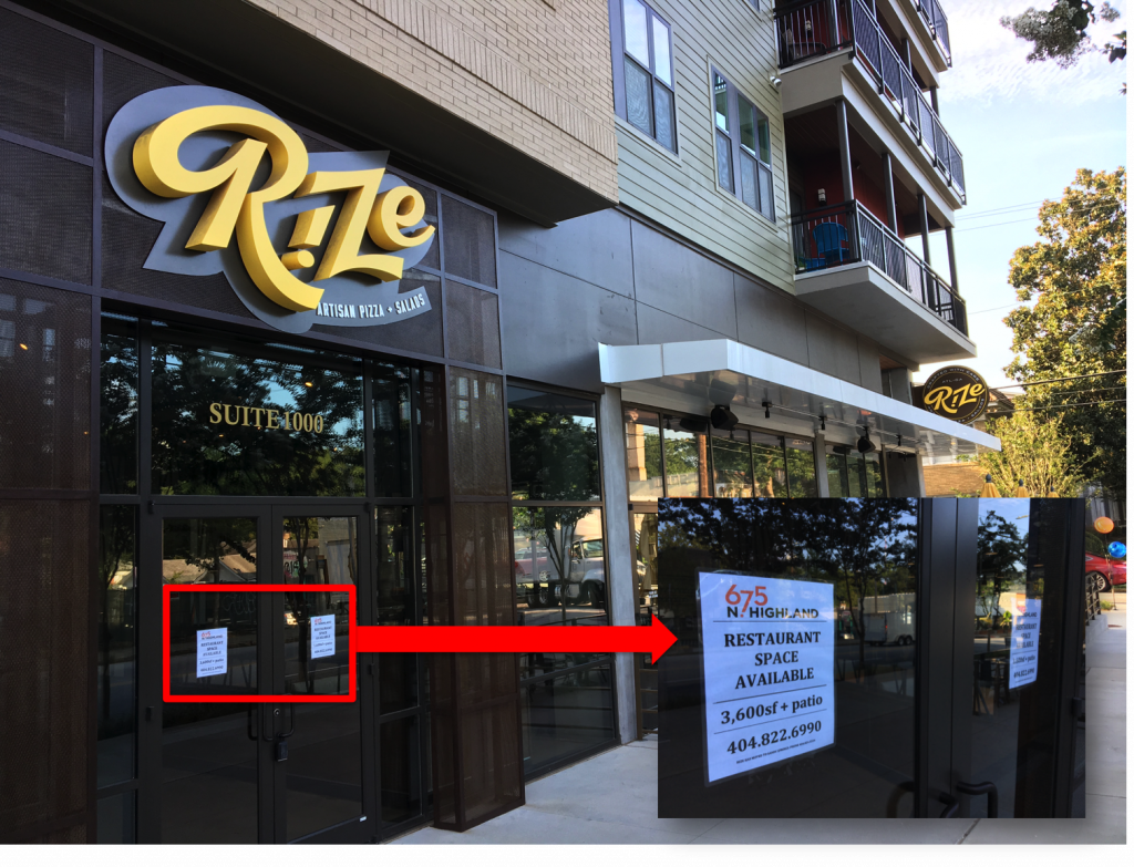 Rize Artisan Pizza and Salads - Poncey-Highland - Closed