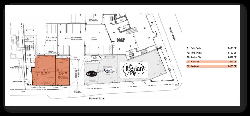 Cafe Posh - Hanover Buckhead Village - Site Plan
