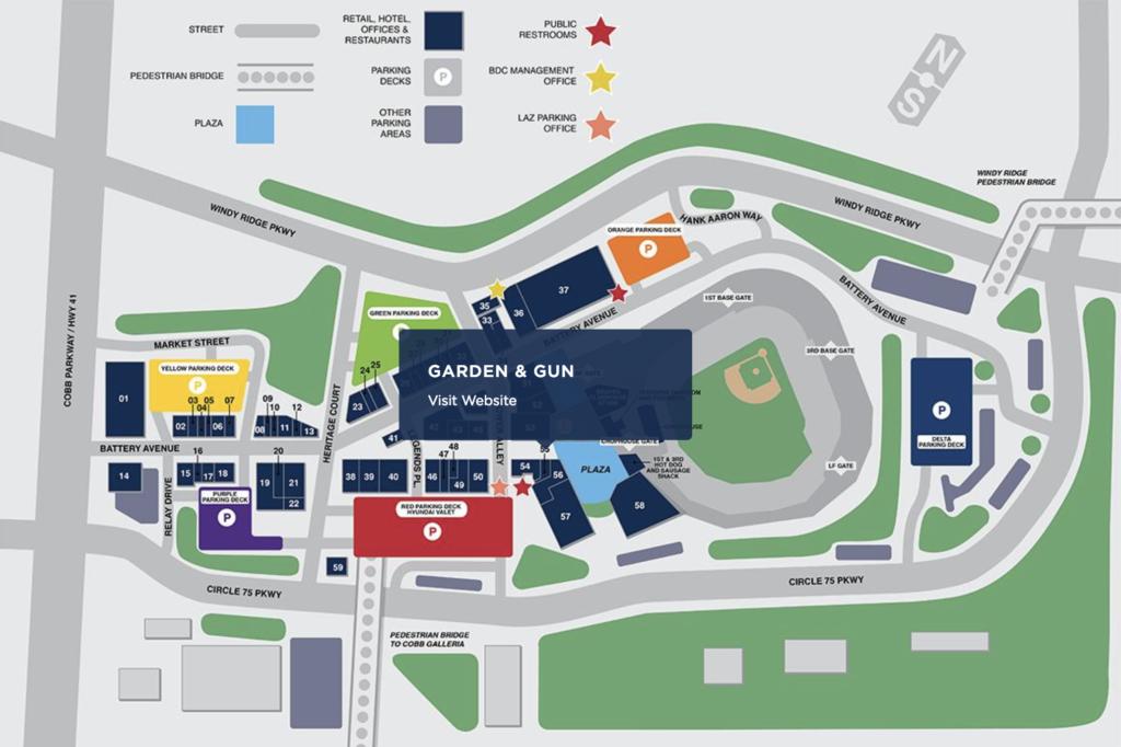 Garden & Gun Club - The Battery Atlanta Site Plan
