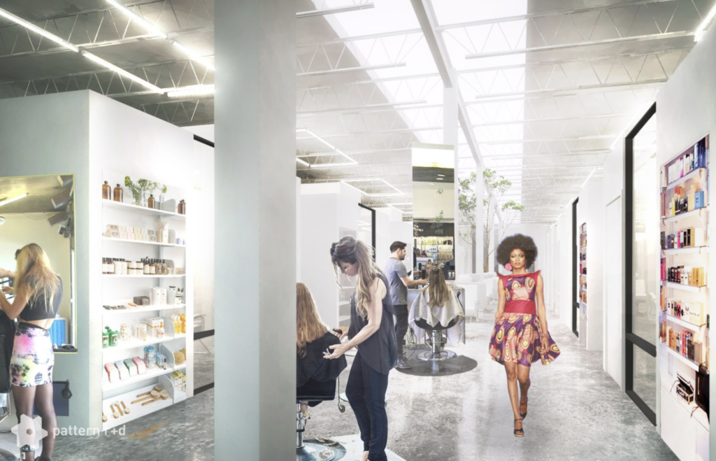 Runway Curls Salon Suites - Interior Rendering