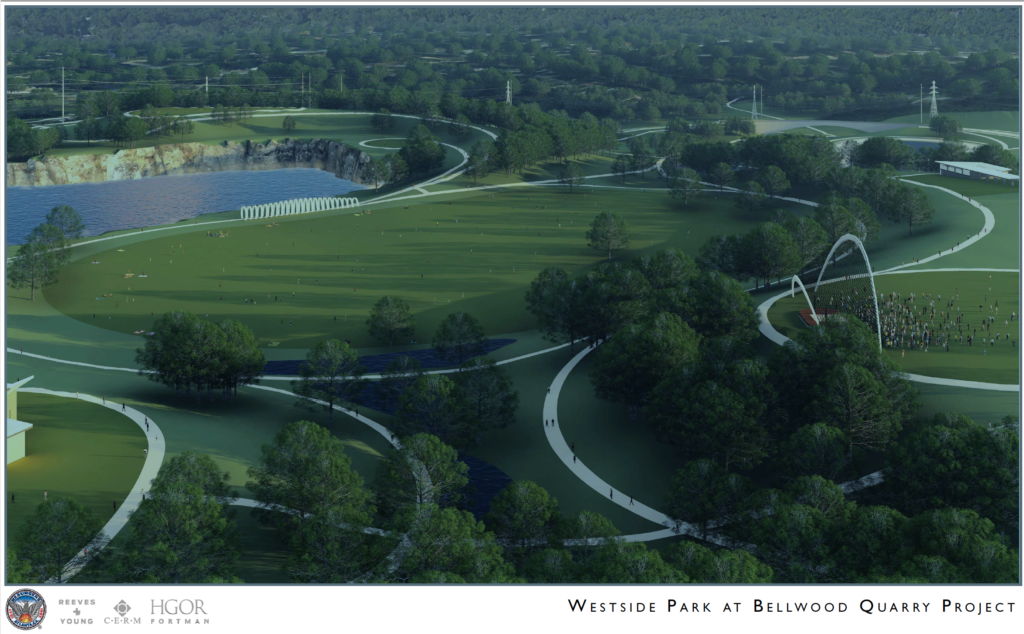 Westside Park at Bellwood Quarry - Rendering 1