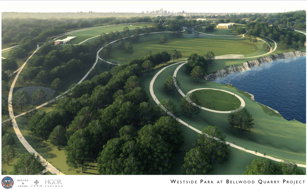 Westside Park at Bellwood Quarry - Rendering 2