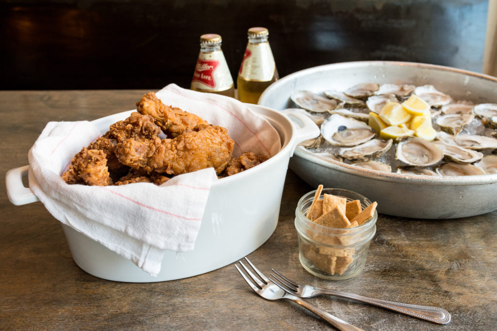 Mary Hoopa's Chicken and oysters
