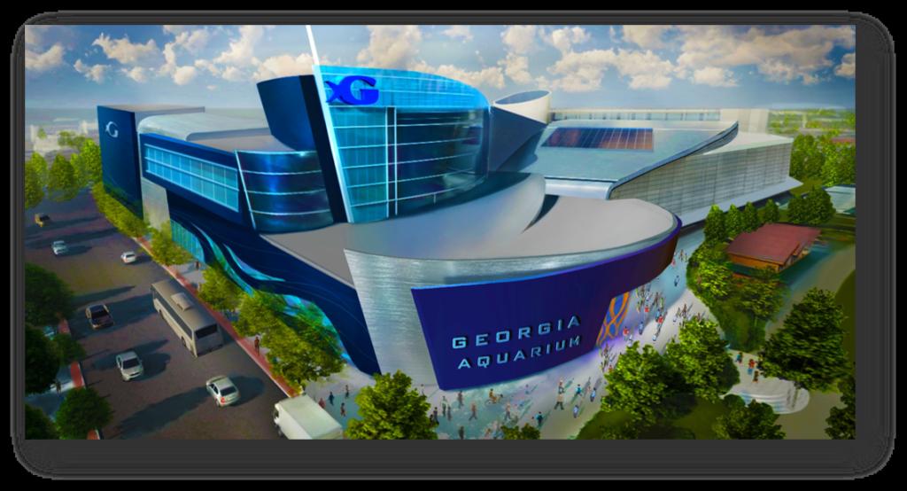 Georgia Aquarium Plaza Exterior NEW Side