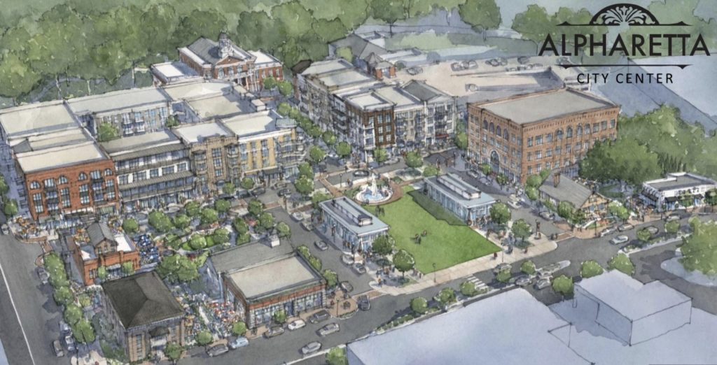 Alpharetta City Center - Rendering