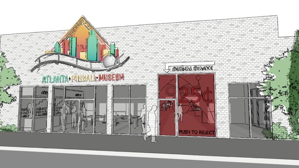 Atlanta Pinball Museum - Storefront Rendering