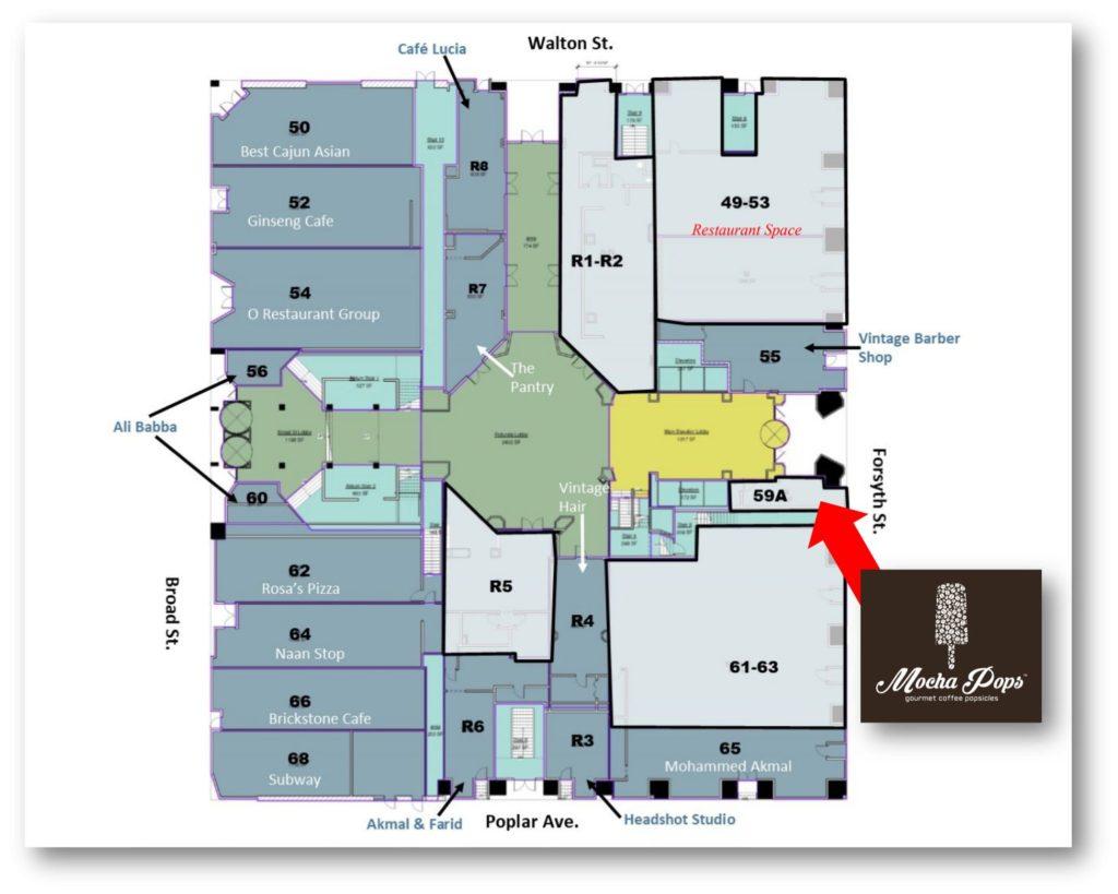Mocha Pops - Healey Building Downtown - Site Plan