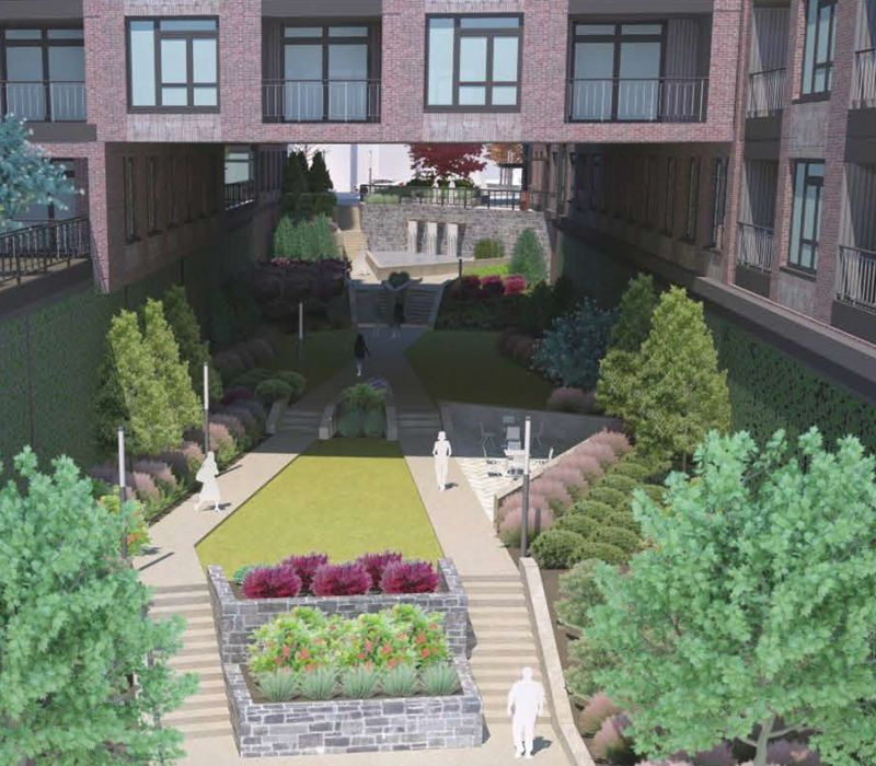 The Interlock Green Space Rendering