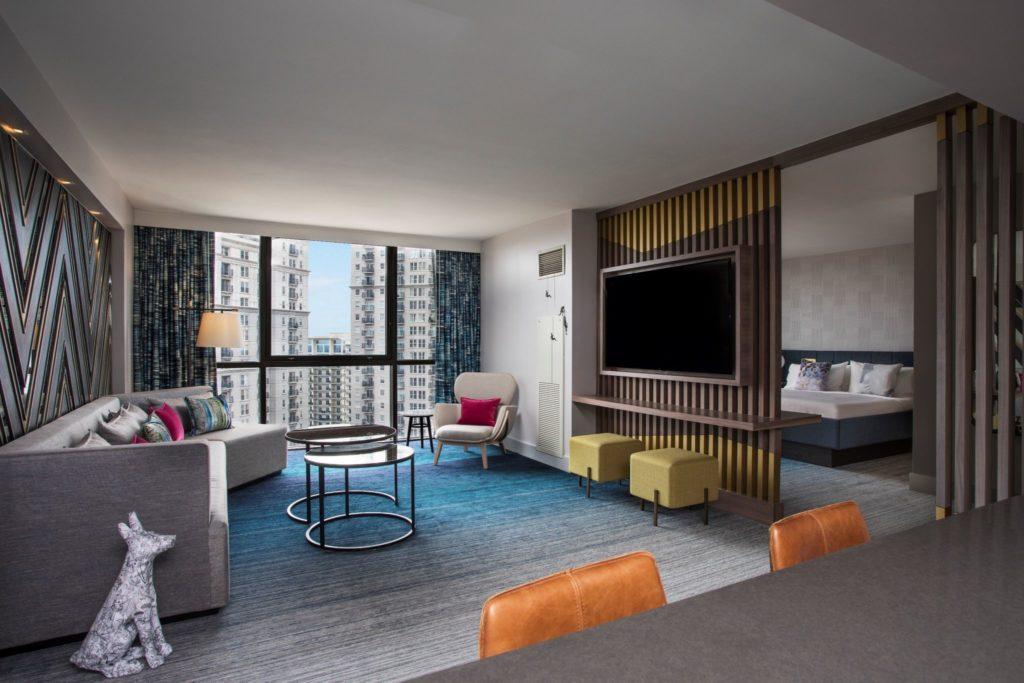 W Atlanta Midtown Hotel Suite Rendering
