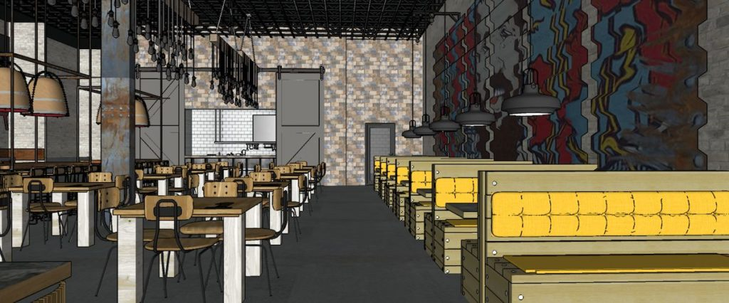 Hop City Lee + White Restaurant Rendering 2