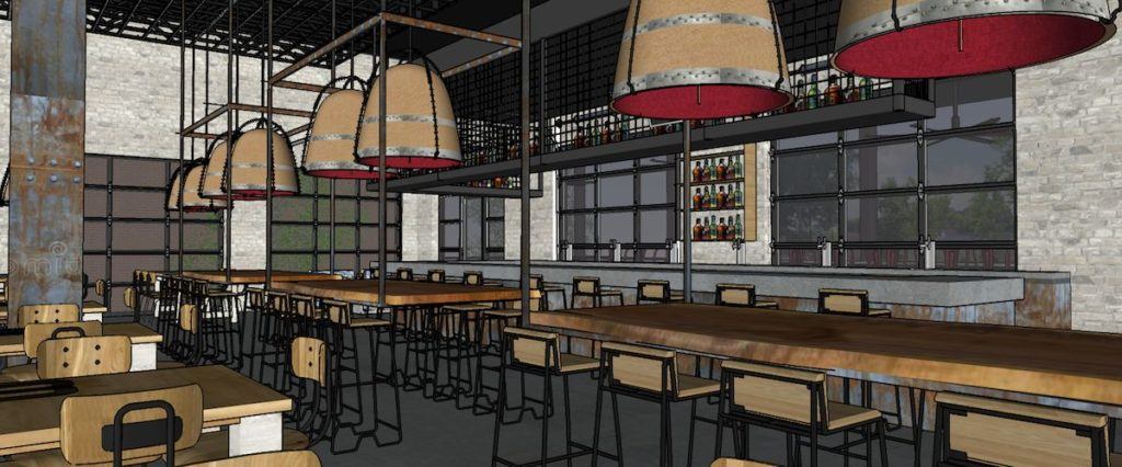 Hop City Lee + White Restaurant Rendering 3