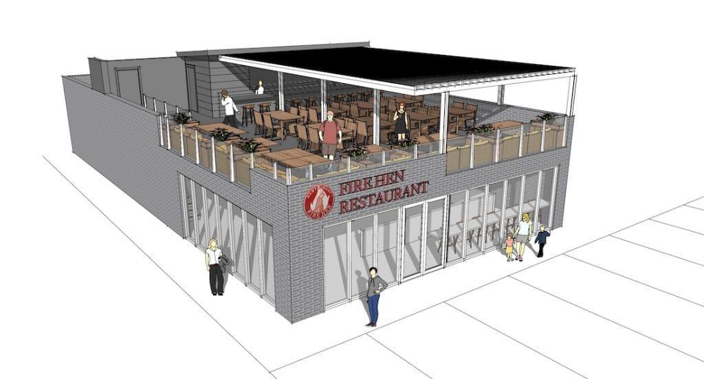 Fire Hen Restaurant Rendering 2