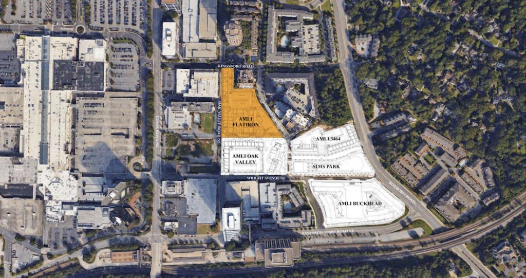 AMLI Flatiron - Buckhead Heights - Aerial Map