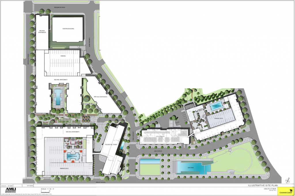 AMLI Flatiron - Buckhead Heights - Site plan