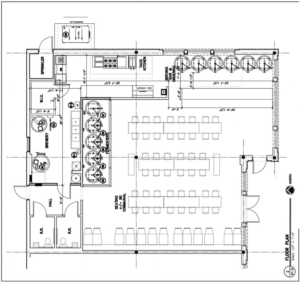 Candler Rail Brewery Floor Plan