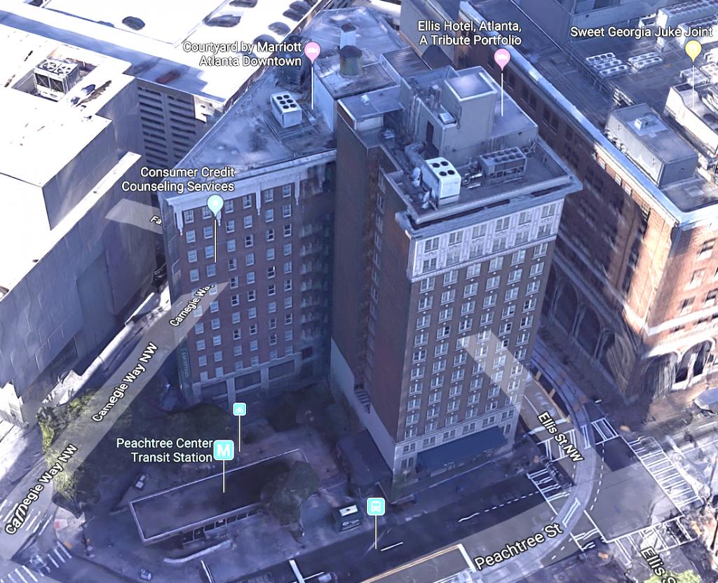 Ellis Hotel Peachtree Center Transit Station Redevelopment