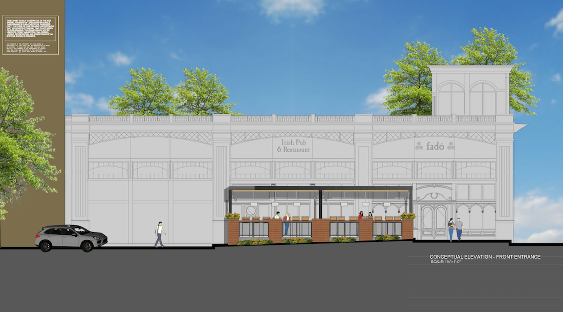 Fado Irish Pub - The Shops Buckhead Atlanta Rendering 1