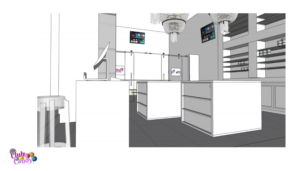Club Candy Atlanta Downtown Atlanta Candy Shop 3D Rendering