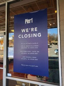Pier1 Ansley Mall Closing