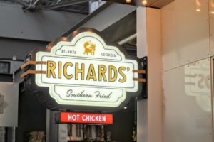 Richards Southern Fried Opening Signage