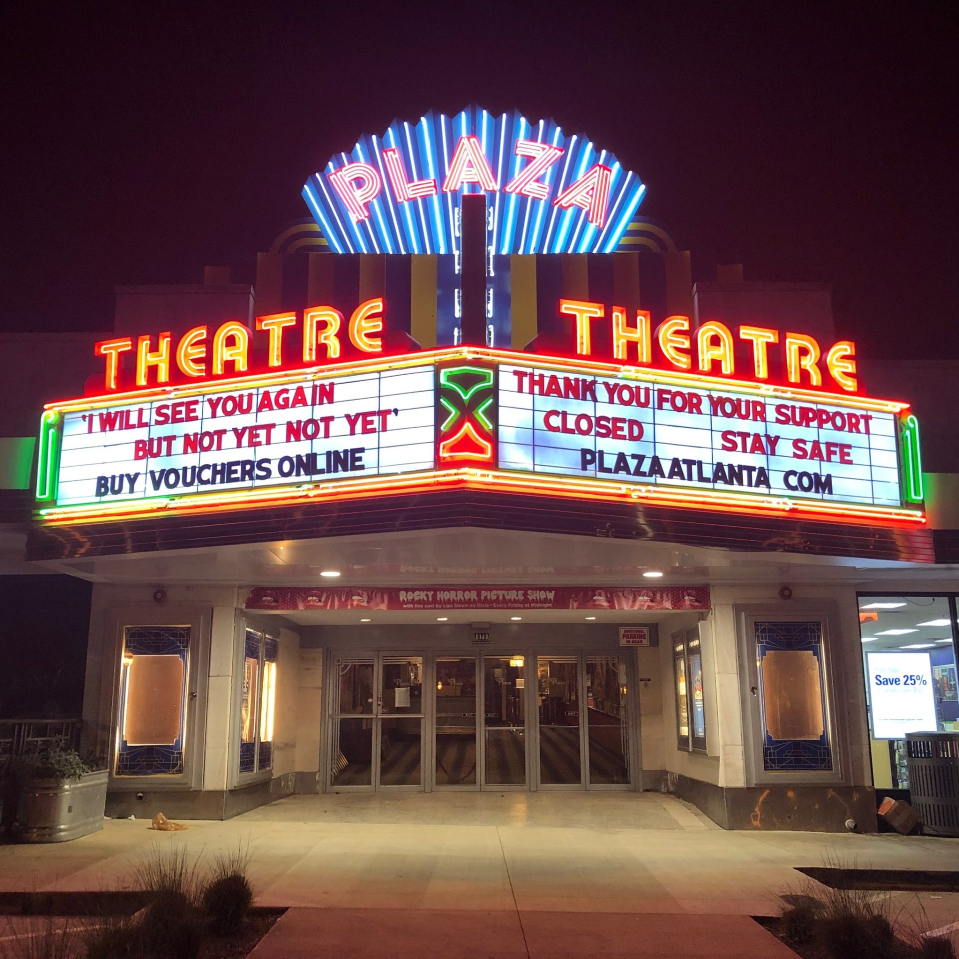 Historic Plaza Theatre Plans To Reopen But As No Contact Drive In What Now Atlanta