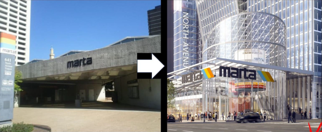Portman Holdings - North Avenue MARTA Station - TOD Rendering 2