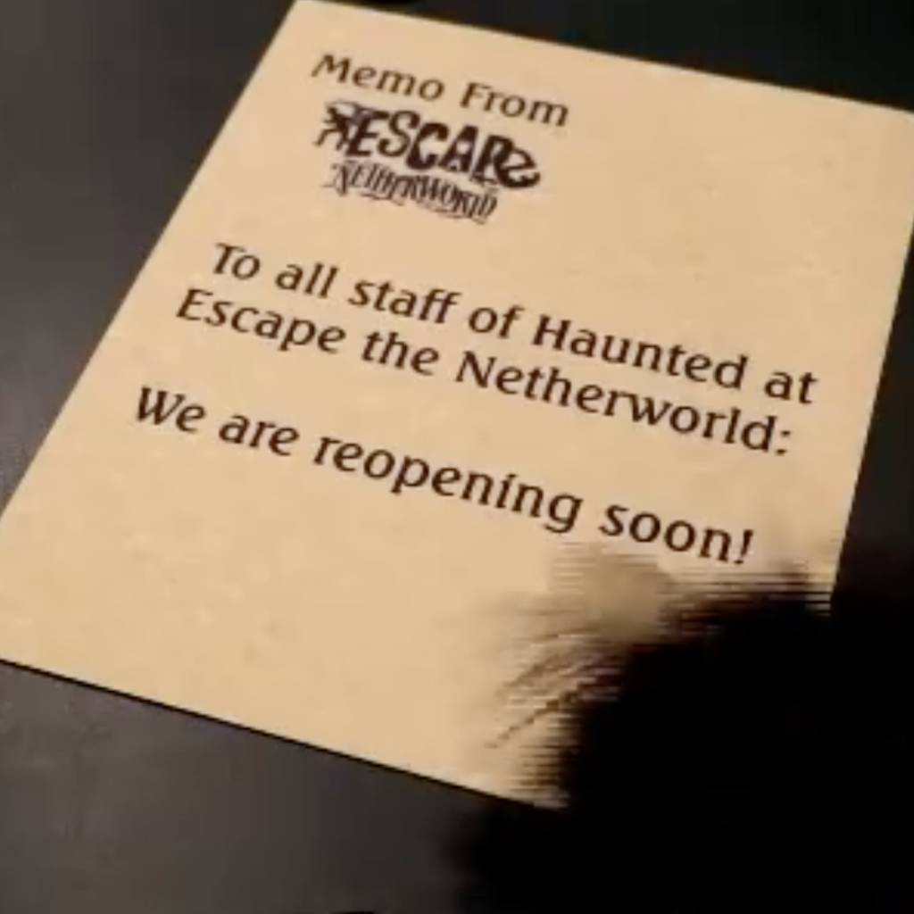 Escape The Netherworld - Reopening June 19