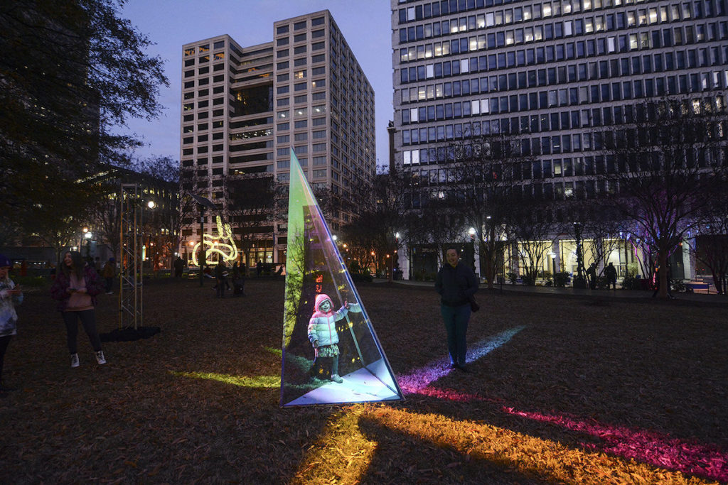 PRISM Winter Lights at Woodruff Park