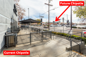 Northridge Chipotle - Moving Across The Street