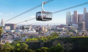 Los Angeles aerial Rapid Transit LA ART Gondala Rendering 1