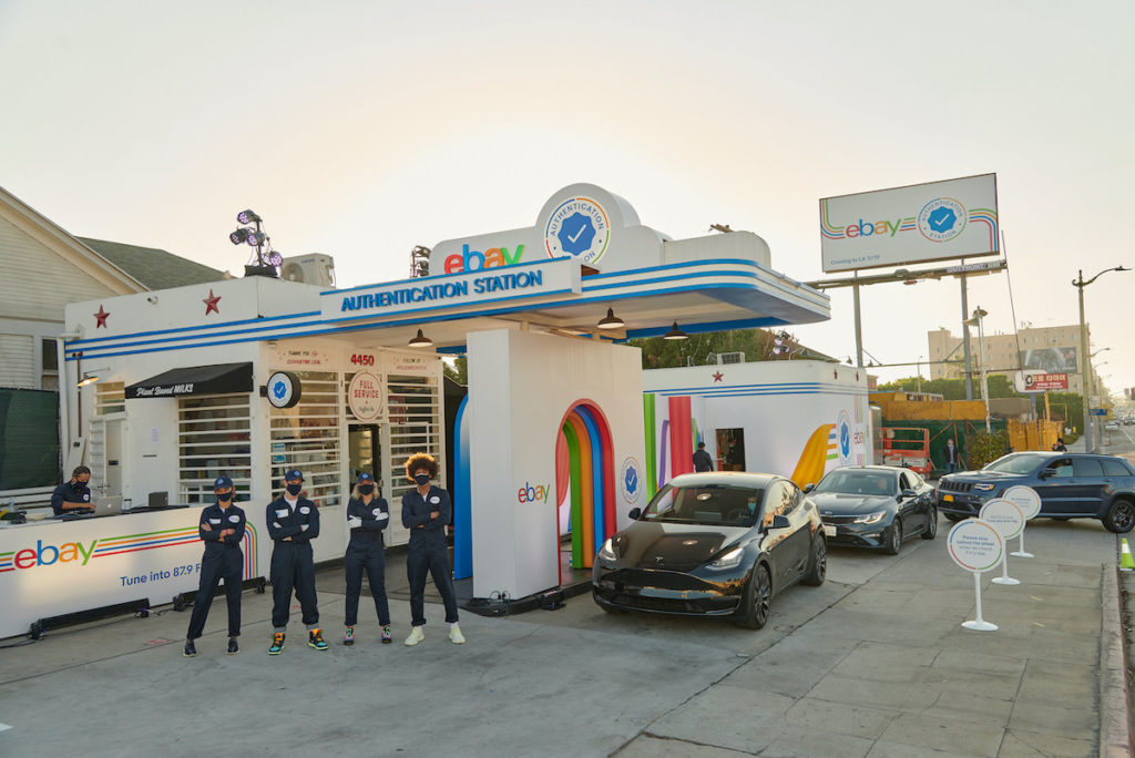 eBay converts an iconic gas station in East Hollywood into a drive-thru 'Authentication Station' to mark their new Authenticity Guarantee offering, changing the way people shop and sell on eBay.