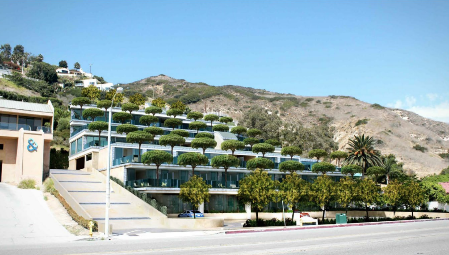 Sea View Hotel Malibu Rendering